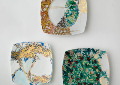 piatti porcellana astratti