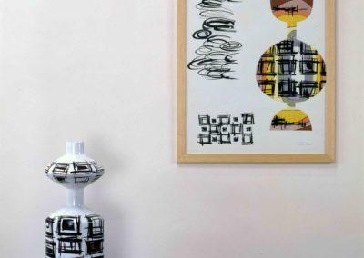 vaso, tavola di progettazione